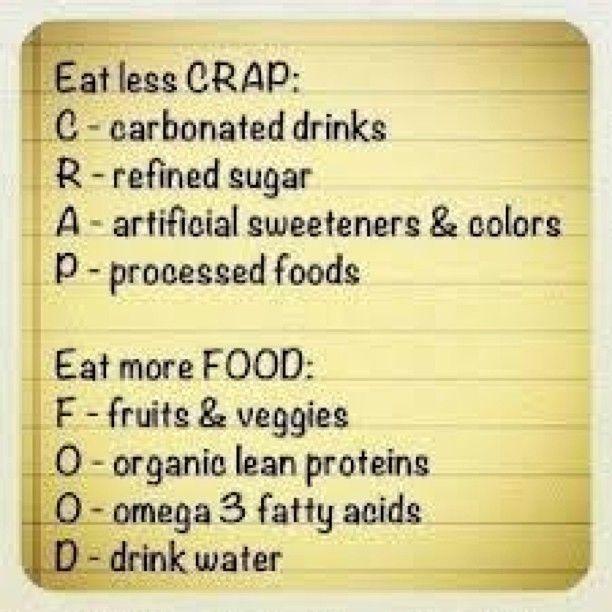crap vs food weight loss tips