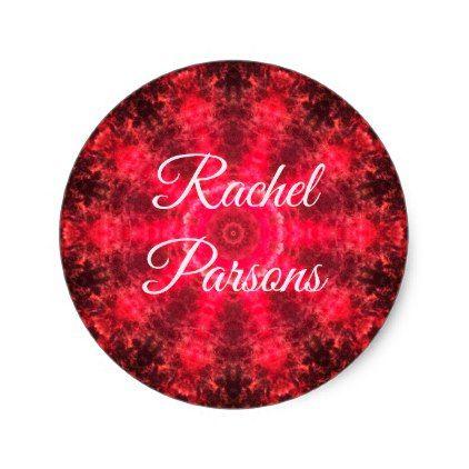 Custom pink mandala classic round sticker create your own gifts personalize cyo custom create your own cyo pinterest round stickers