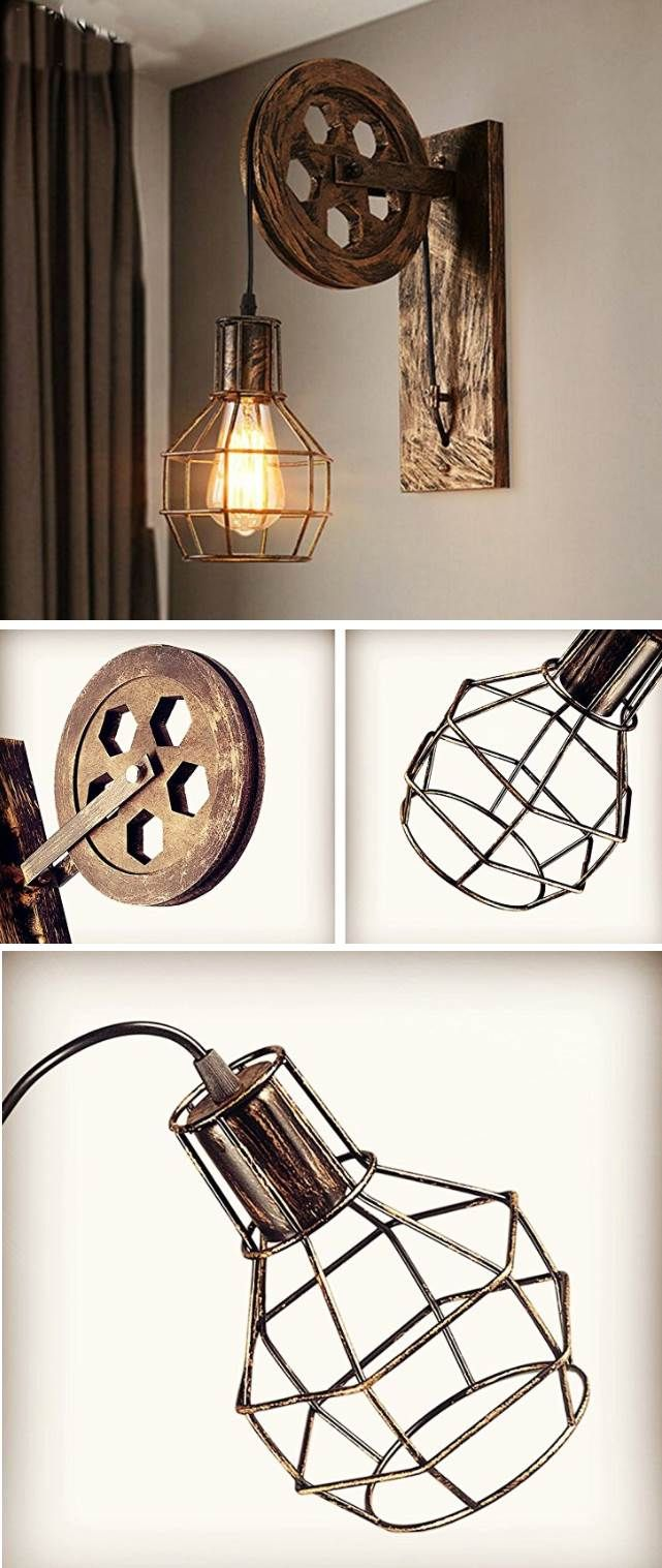 Coole Vintage Lampe Im Industrial Style. #vintage #lampen #industrial  #affiliate