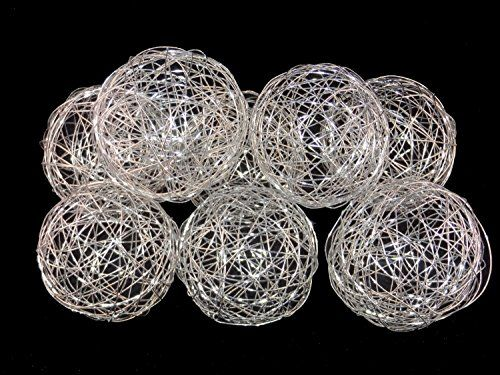 40'' Decorative Wire Ball Silver Set Of 40 Balls 40 Ho Adorable Silver Balls Decor