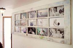 Janelas reciclada com fotos