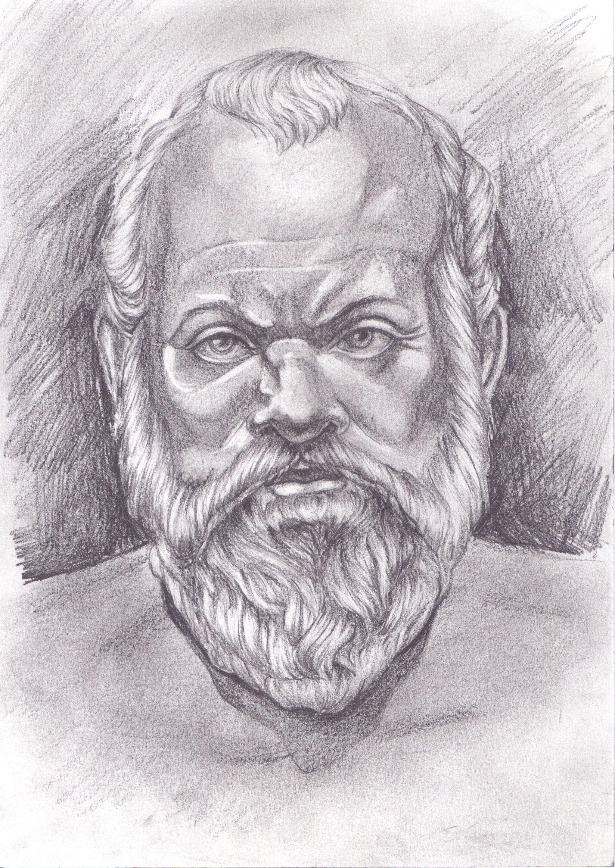 Sócrates - 470 a.C / 399 a.C Sócrates costumava caminhar descalço e não tinha o hábito de tomar banho. Em certas ocasiões, parava o que quer que estivesse fazendo, ficava imóvel por horas, meditando sobre algum problema. Certa vez o fez descalço sobre a neve, segundo os escritos de Platão, o que demonstra seu caráter lendário. Sócrates foi um filósofo ateniense do período clássico da Grécia Antiga. Creditado como um dos fundadores da filosofia ocidental, é até hoje uma figura enigmática.