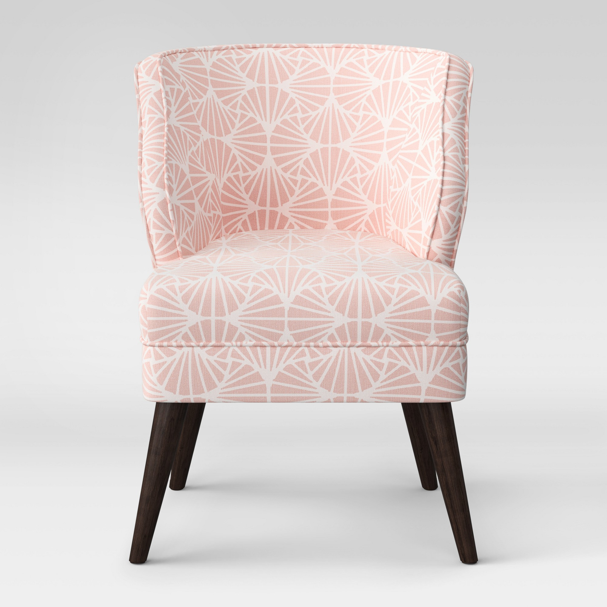 Mandolene Mid Century Arm Chair Scallop Pink Project 62