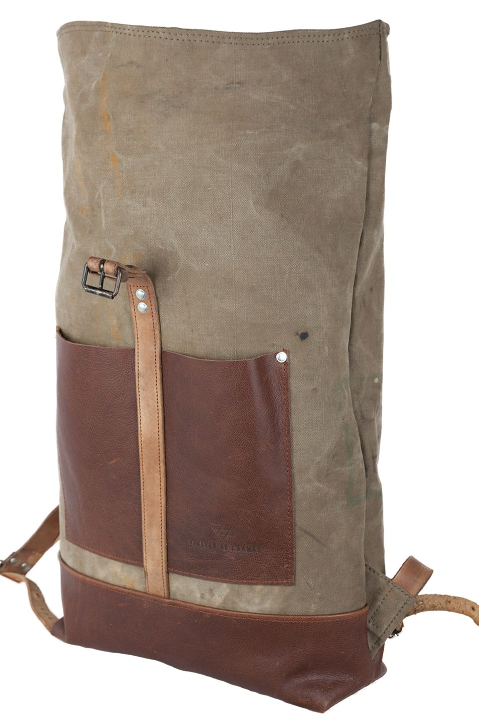 Canvas Leather Roll Top Backpack Diy Pinterest Top