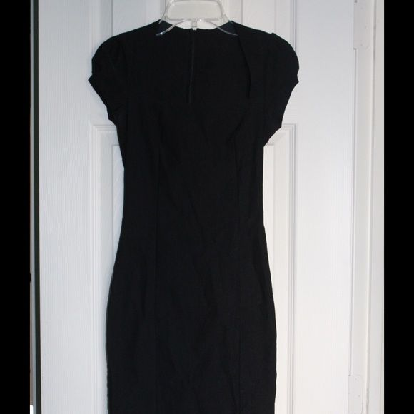 (PAPAYA) Black mini dress PAPAYA | Little Black Dress   Form fitting, black mini dress with a square neck and slit in the back. Great Condition!  ▪️27% Polyester ▪️70% Cotton ▪️3% Spandex  Let's Stay Connected!!  💞IG: nicolegmay 💞SC: nicolegmay 💞Twitter: nicolemay17 Papaya Dresses Mini