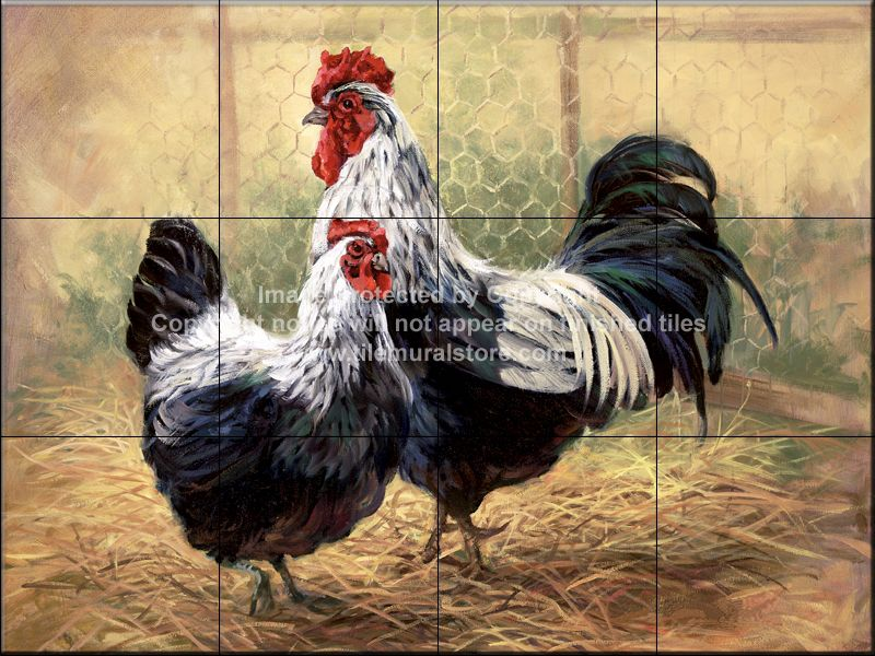 Decorative Wall Tile Murals Rooster Tile Murals Rooster Accent Tiles Decorative Rooster
