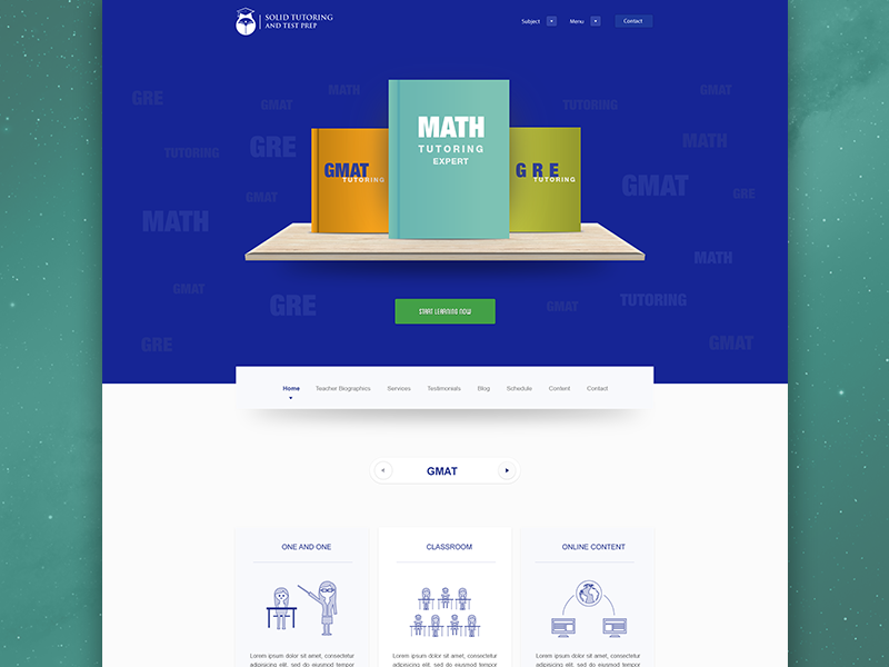 Solid Tutor website design Web design, Gre math, Math expert