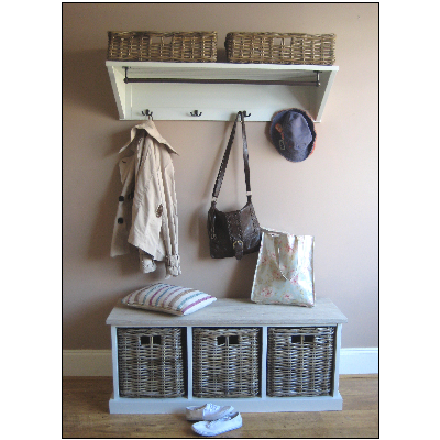 tetbury hallway storage bench and shelf from magnolia lane good for the utility room