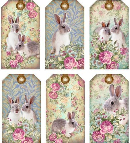 12 hang gift tags vintage easter spring images 857 b bunny gifts 12 hang gift tags vintage easter spring images 857 b negle Images