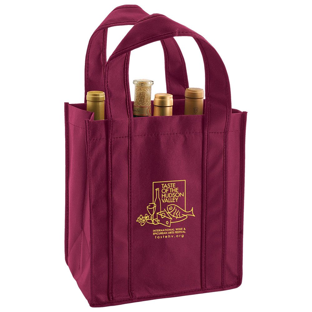6 Bottle Wine Bag Enhance Your Wine Bottle S Wardrobe With This Modern Wine Bag Made From 100 Gsm Non Woven Polypropyle Wine Tote Wine Tote Bag Bag Packaging