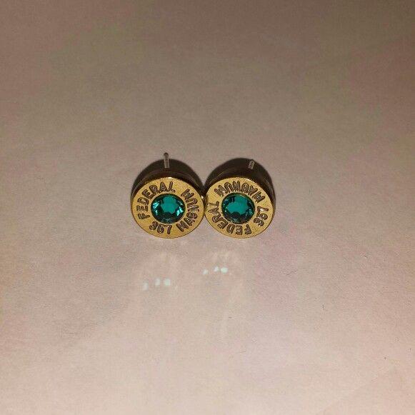 #brasstreasureco #bulletearrings #bulletjewelry #bullets #swarovski #jewelry #earrings #etsy www.etsy.com/shop/brasstreasureco
