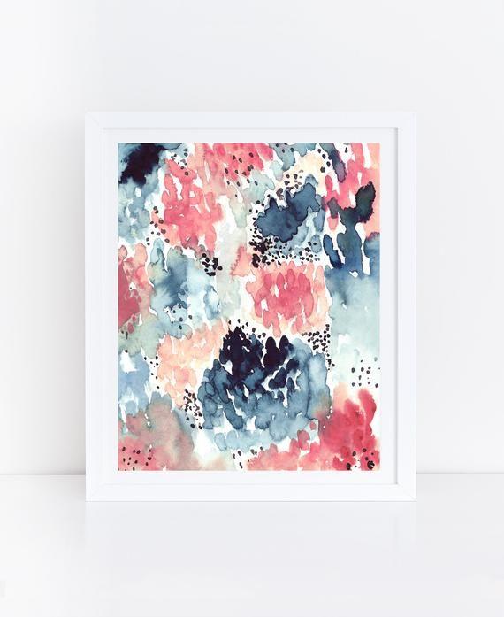 OVERSIZED Print, Large Watercolor PRINTABLE Art, L