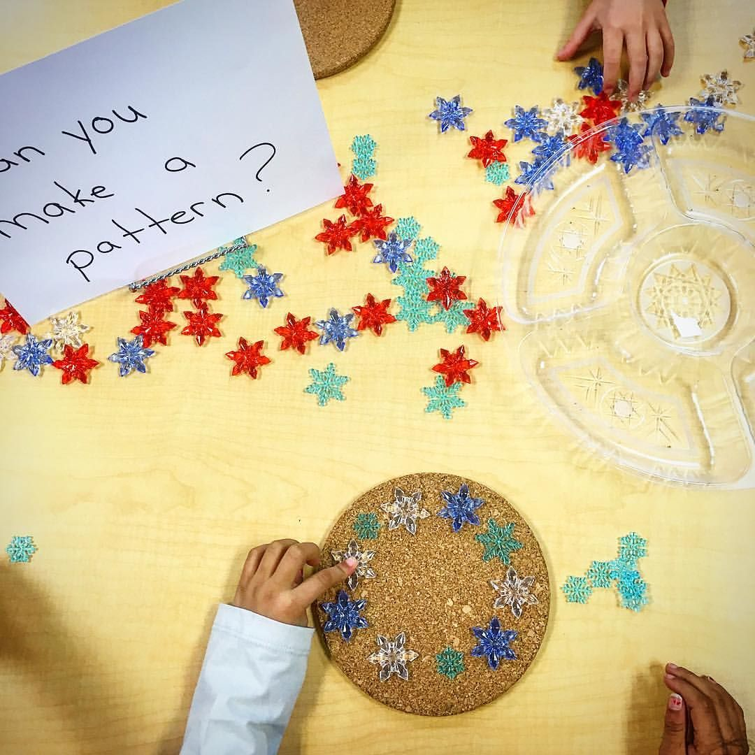 Loose Parts Patterning With Snowflakes 9 Likes 1 Comments
