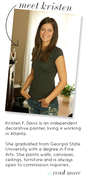 Kristen F. Davis Designs Stove Hood Painted To Look Like