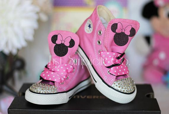 Minnie Mouse Custom Converse, Minnie Mouse Costume Shoes for