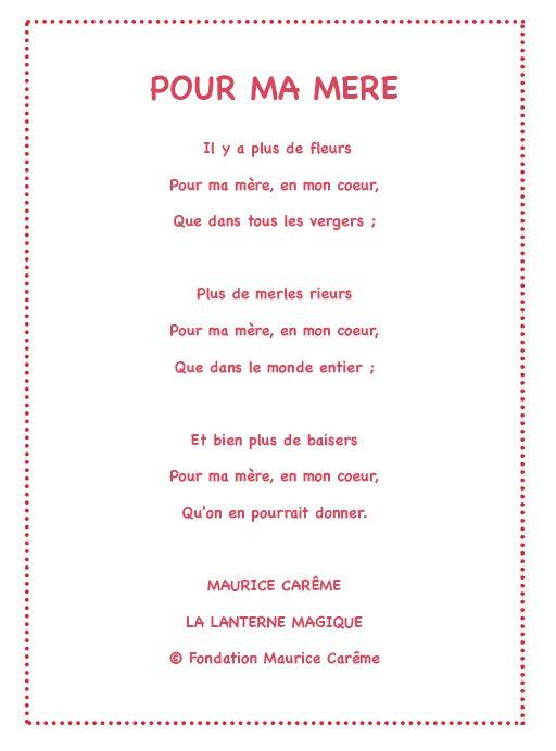 Pour ma mère - Un poème pour maman avec Tête à modeler | Poeme anniversaire, Poeme maman et ...