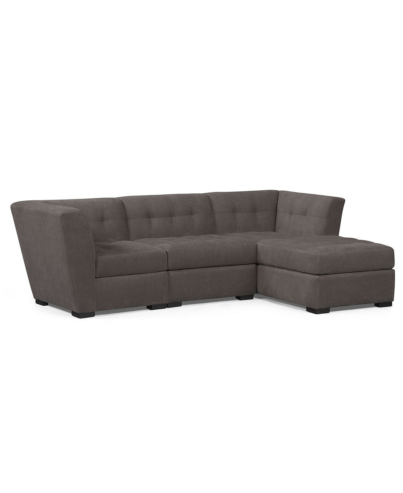 Roxanne Fabric Modular Sectional Sofa, 3 Piece (Square ...