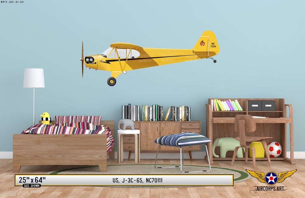 2 Piper Cub Decals  FREE SHIPPING