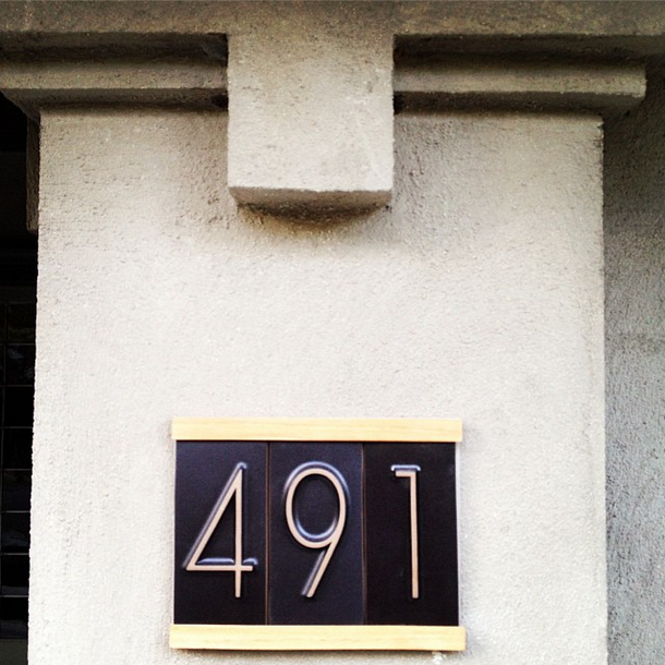 We Spy; Our house numbers. They're like regular house numbers, but