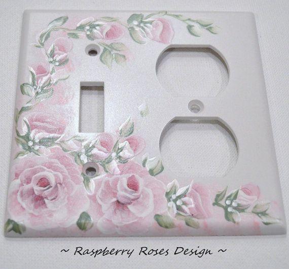 The RASPBERRY ROSES Design Handpainted Roses by IrishArtStudio, $7.99