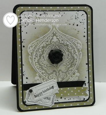 Debbie's Designs: Dynamic Duos #71! Embossed w/ white & again w/ irridescent ice