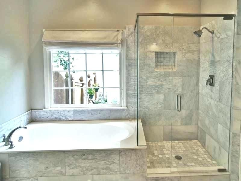Jacuzzi And Shower With Seamless Glass Drop In Tub Refinish