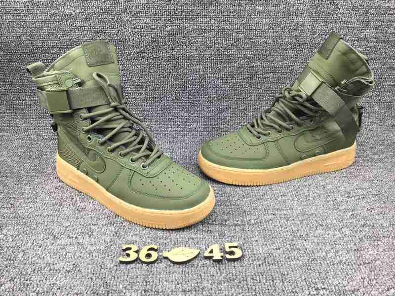 release date b24fe 2ecf4 Nike Special Forces Air Force 1 Boots OD Green 10591