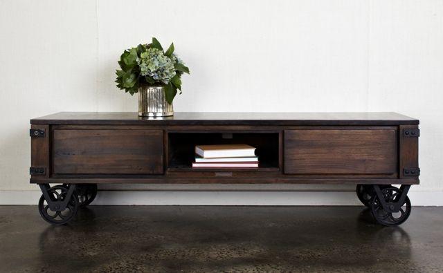 TV Table On Wheels 170x45x50cm