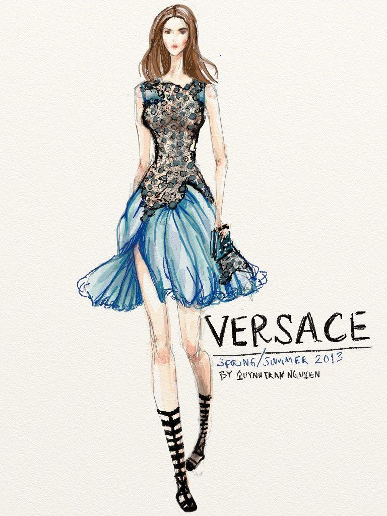 Atelier Versace Couture Sketch - Поиск в Google   Fashion ...