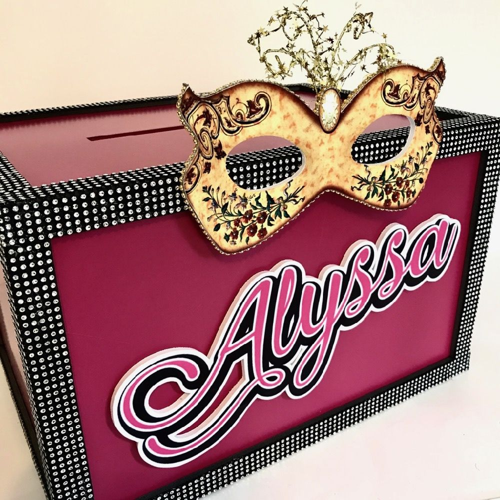 Having a masquerade or mardi gras themed party order a gift card order a gift card box from us or make one yourself with do it yourself from our video instructions available on our website solutioingenieria Images