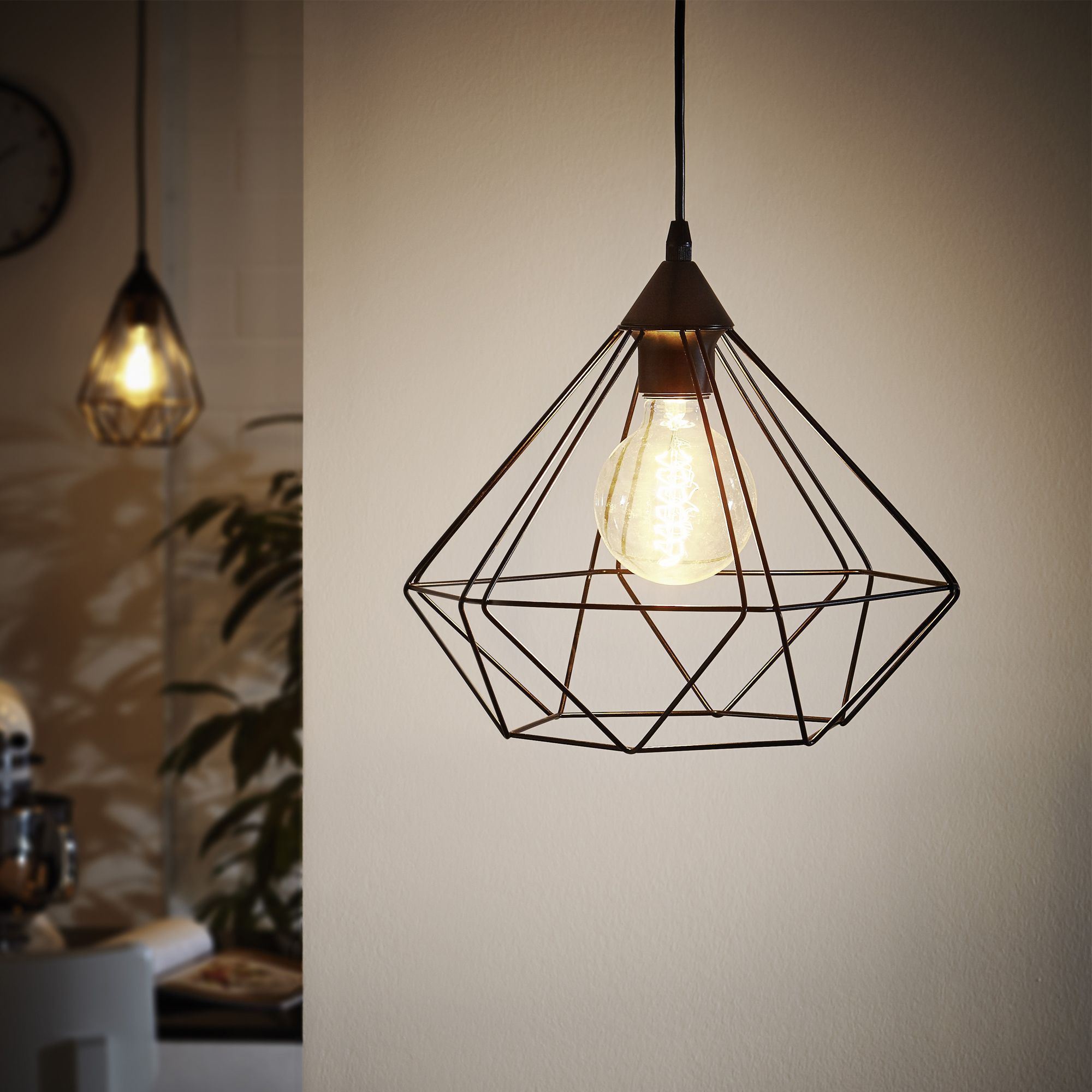 Tarbes salons and lights - Suspension industrielle noire ...