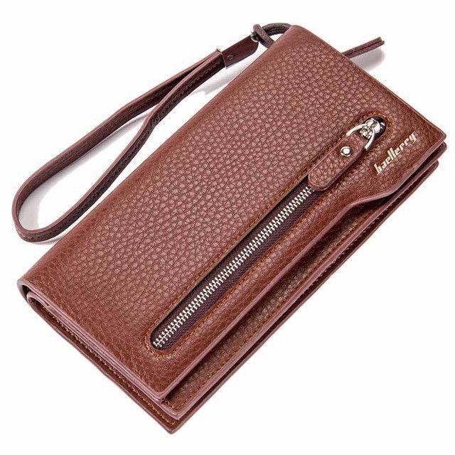 6310dfb7cf9a Men wallets long zipper cellphoe pocket wallet male clutch leather ...