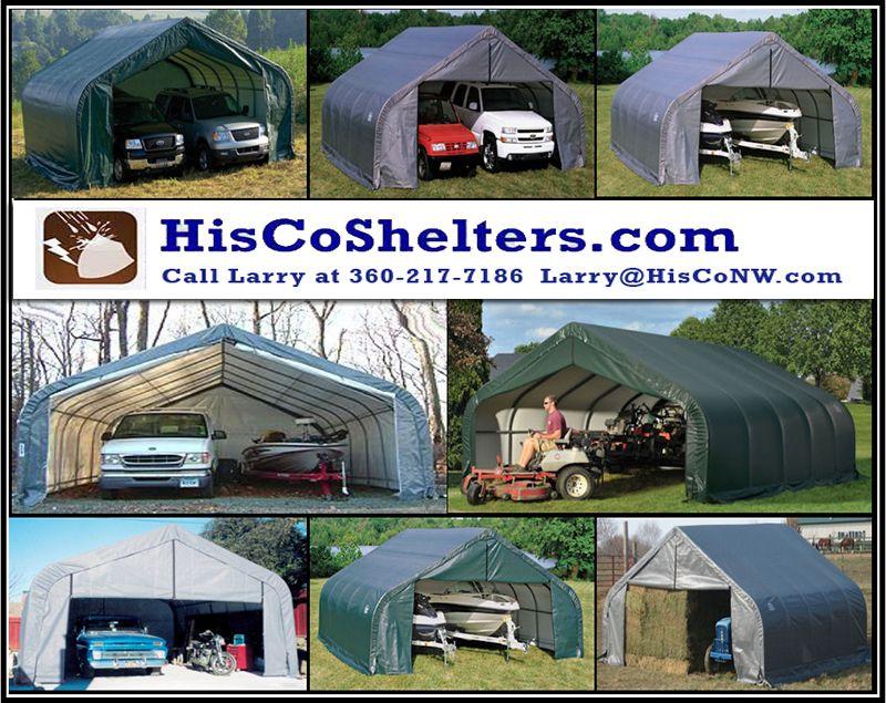 Sun, wind, and snow safe Shelter Logic Portable 2 Car Garage
