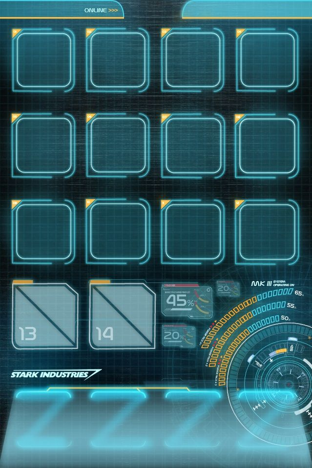 Iphone 4s jarvis home screen ironman for Wallpaper home screen iphone