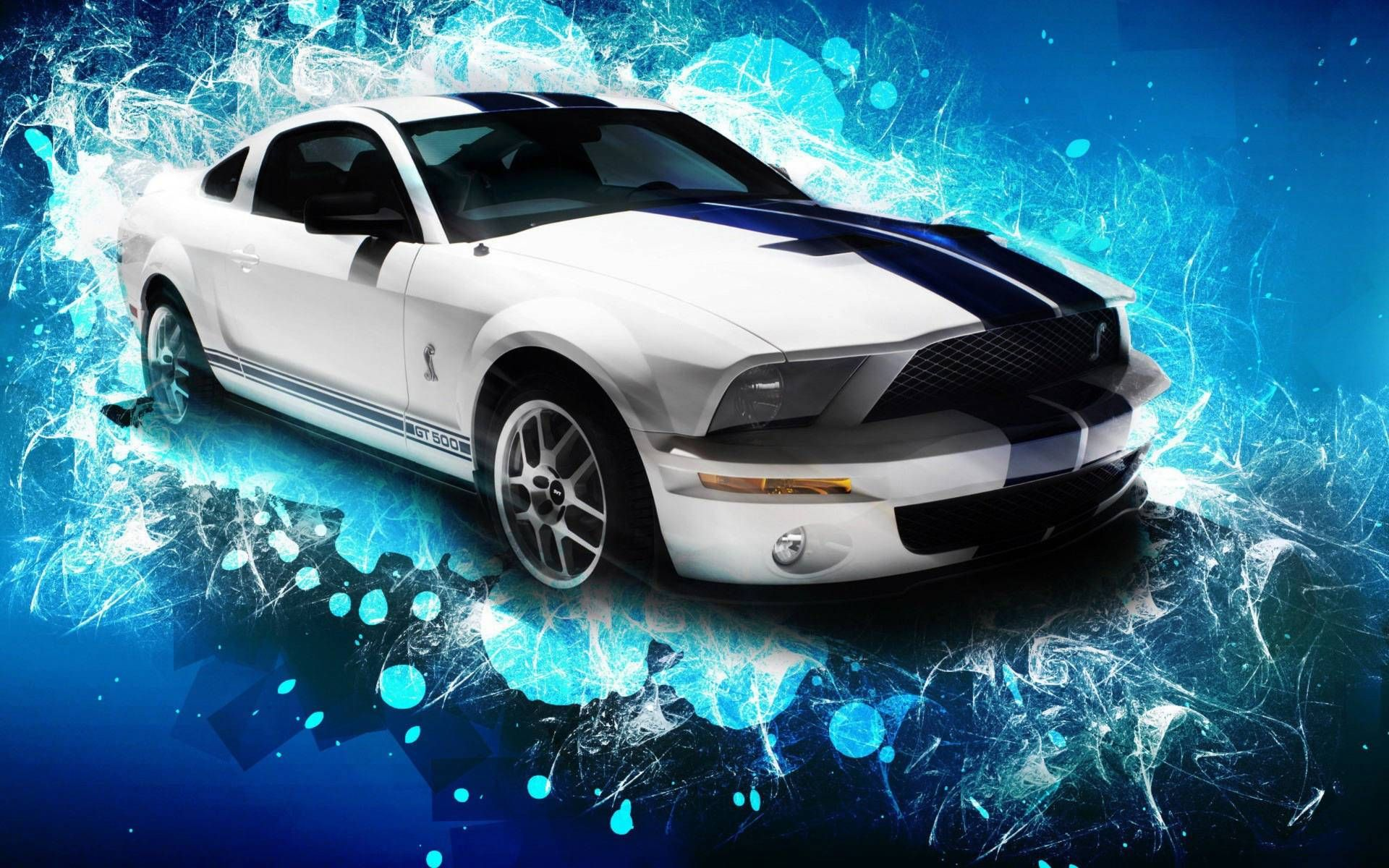 3 D Walpeper Ford Mustang Car 3d Widescreen Hd Wallpaper Ford Mustang Gt500 Car Wallpapers Mustang Wallpaper