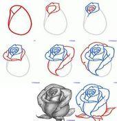 Photo of 45 idées de fleurs dessin tatouage roses esquissées – fleur blog fleurs roses #di …