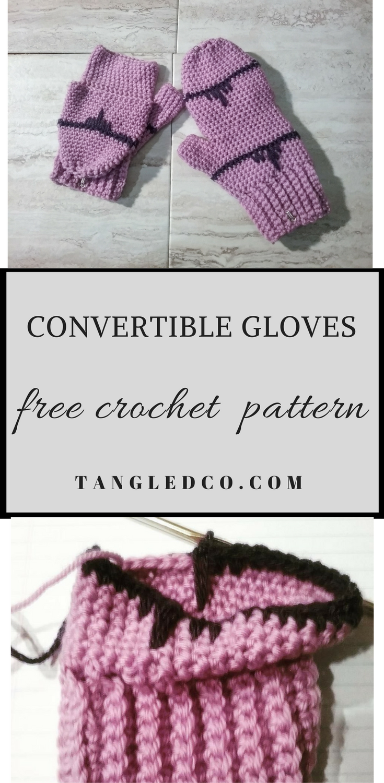Crochet Convertible Gloves | Crochet/Knit Projects | Pinterest ...