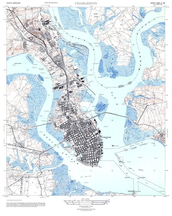 Legends At Charleston Park: Charleston, SC 1948 USGS Map In 2020