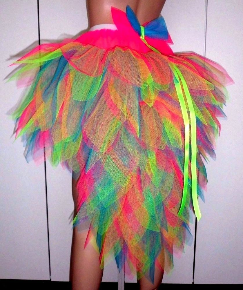 Bird of Paradise Fantasy Tutu with stunning Tail. Carnival/Dance/Hen Party etc. #fancydress