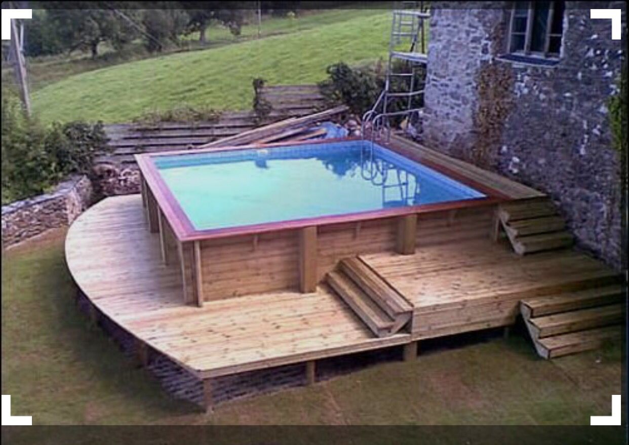 square above ground pool. Decking Square Above Ground Pool P