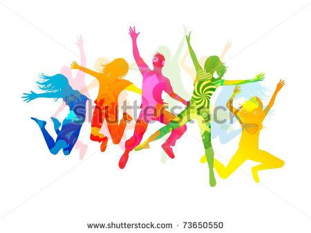 jumping summer people healthly young people vector illustration