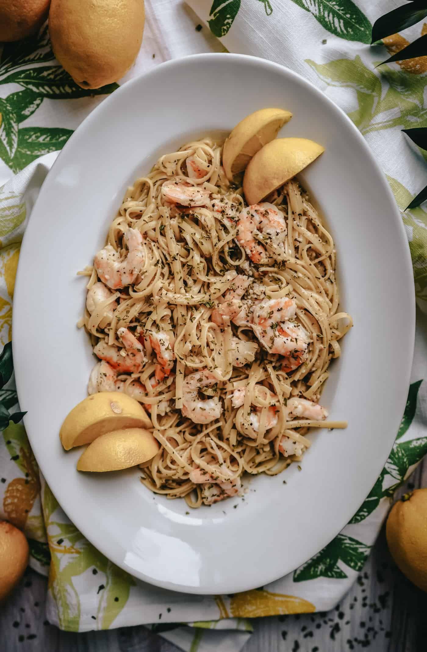 Lemon Garlic Shrimp Pasta    Instant Pot & Stove Top