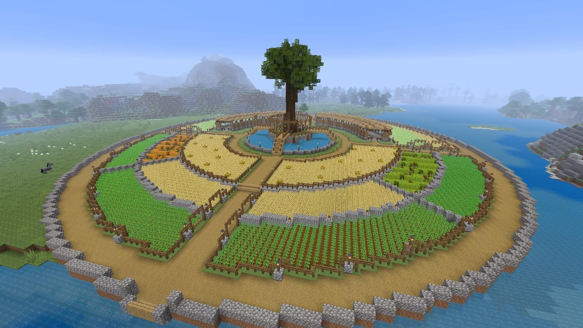 What Do You Guys Think Of My  U0026 39 Crop Circle U0026 39     Minecraft