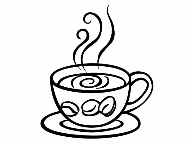 Cafe Coffee Cup Coloring Pages