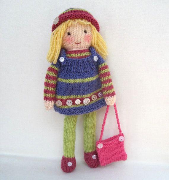 Betsy Button patrón de punto de juguete muñeca por toyshelf | Dolls ...