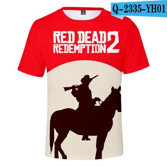Red Dead Redemption t-shirt rockstar game gift idea kids men women tee top