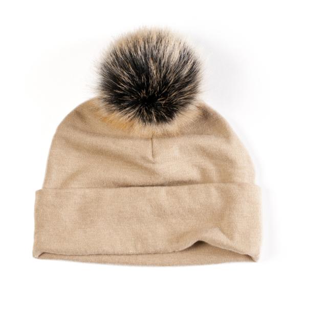 Cashmere Fur Pom Hat (More Colors)