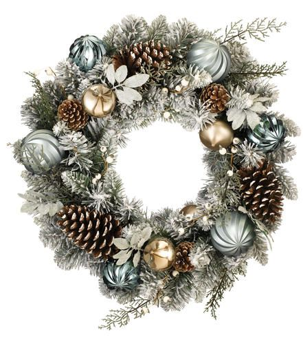 Frosted Pine Wreath Menards Christmas Wreaths Wreaths Christmas Decorations