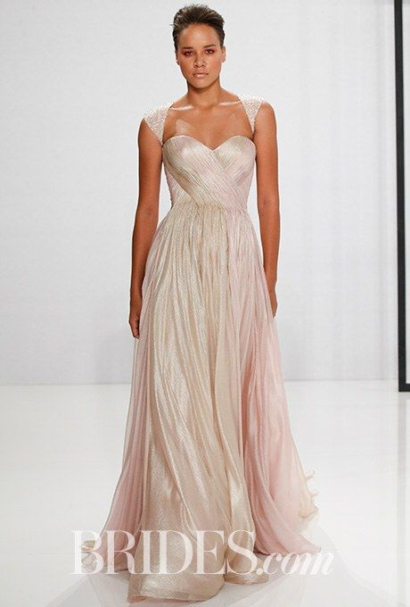 Style 187 Dusty Blush And Gold Silk Chiffon Wedding Dress Mark