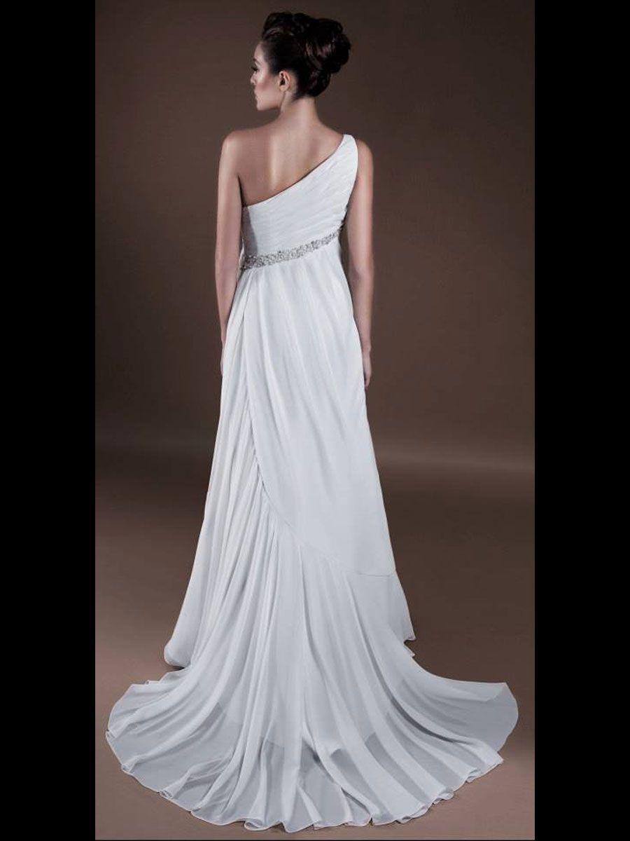 Ancient greece style wedding dress openback greek for Greek style wedding dress